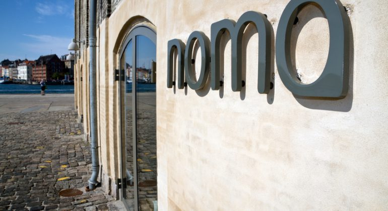 Copenhagen, Denmark - August 21, 2011: The danish gourmet restaurant Noma opened in 2003. It is situated in an old warehouse in Christianshavn, Copenhagen. In 2005 it received its first Michelin Star and the second in 2007.